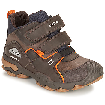 kengät Pojat Bootsit Geox BULLER ABX Ruskea