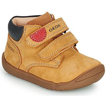 kengät Pojat Bootsit Geox MACCHIA Ruskea