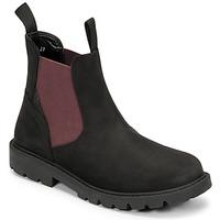 kengät Pojat Bootsit Geox SHAYLAX Musta / Viininpunainen