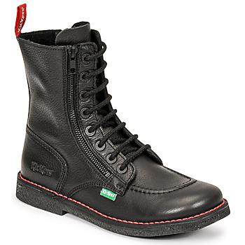 kengät Naiset Saappaat Kickers MEETICKZIP Musta