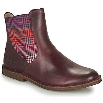 kengät Naiset Bootsit Kickers TINTO Viininpunainen / Tumma