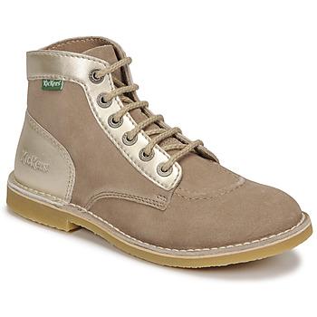 kengät Naiset Bootsit Kickers ORILEGEND Beige