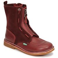 kengät Naiset Bootsit Kickers MEETICKROCK Viininpunainen / Tumma