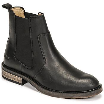 kengät Naiset Bootsit Kickers ALPHASEA Musta