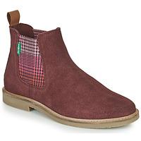 kengät Naiset Bootsit Kickers TYGA Viininpunainen