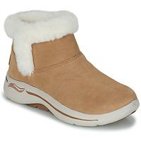 kengät Naiset Bootsit Skechers GO WALK ARCH FIT Ruskea