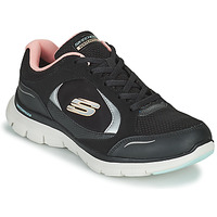kengät Naiset Matalavartiset tennarit Skechers FLEX APPEAL 4.0 Musta / Vaaleanpunainen