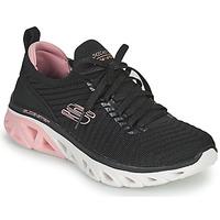 kengät Naiset Matalavartiset tennarit Skechers GLIDE-STEP SPORT Musta / Vaaleanpunainen