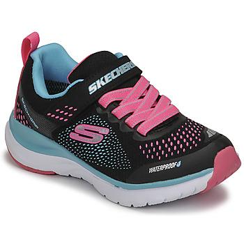 kengät Tytöt Matalavartiset tennarit Skechers ULTRA GROOVE Musta / Vaaleanpunainen / Sininen