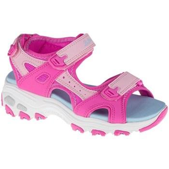kengät Lapset Sandaalit ja avokkaat Skechers Dlites Vaaleansiniset, Vaaleanpunaiset