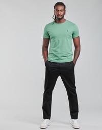 vaatteet Miehet 5-taskuiset housut Polo Ralph Lauren ALLINE Musta