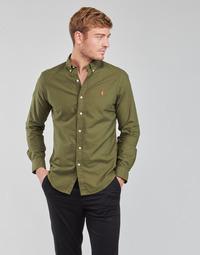 vaatteet Miehet Pitkähihainen paitapusero Polo Ralph Lauren DRISSY Khaki