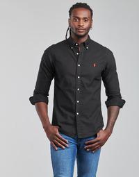 vaatteet Miehet Pitkähihainen paitapusero Polo Ralph Lauren CAMISETA Musta