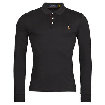 vaatteet Miehet Pitkähihainen poolopaita Polo Ralph Lauren PERINA Musta