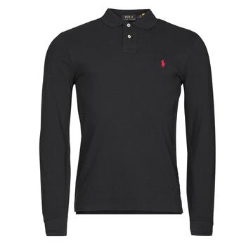 vaatteet Miehet Pitkähihainen poolopaita Polo Ralph Lauren TREKINA Musta