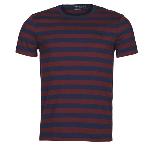 vaatteet Miehet Lyhythihainen t-paita Polo Ralph Lauren POLINE Laivastonsininen / Viininpunainen