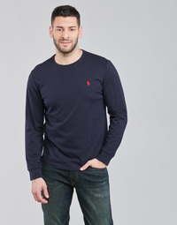 vaatteet Miehet T-paidat pitkillä hihoilla Polo Ralph Lauren DRENNI Laivastonsininen