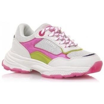 kengät Tytöt Matalavartiset tennarit MTNG DEPORTIVAS NIÑA MUSTANG BEIGE 48201 Valkoinen