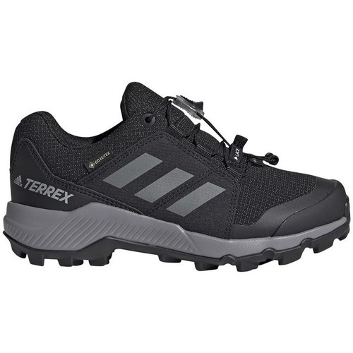 kengät Lapset Juoksukengät / Trail-kengät adidas Originals Terrex Gtx K Mustat, Harmaat