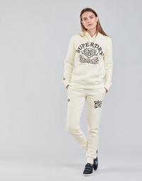 vaatteet Naiset Verryttelyhousut Superdry PRIDE IN CRAFT JOGGER Vaalea