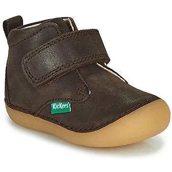 kengät Pojat Bootsit Kickers SABIO Ruskea