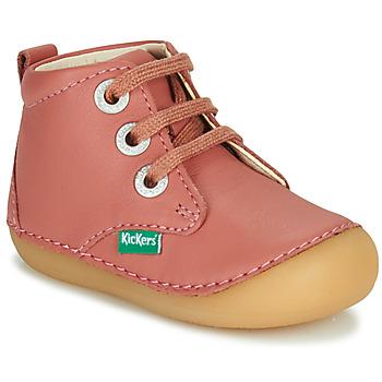 kengät Tytöt Bootsit Kickers SONIZA Vaaleanpunainen