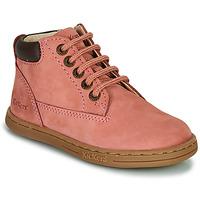 kengät Tytöt Bootsit Kickers TACKLAND Vaaleanpunainen