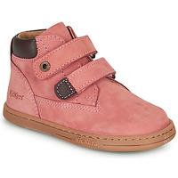 kengät Tytöt Bootsit Kickers TACKEASY Vaaleanpunainen