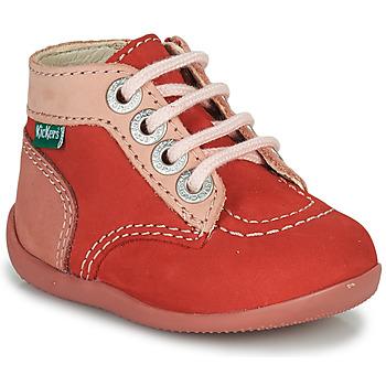 kengät Tytöt Bootsit Kickers BONZIP-2 Vaaleanpunainen