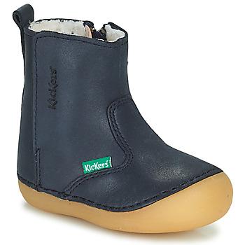 kengät Tytöt Bootsit Kickers SOCOOL CHO Laivastonsininen