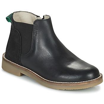 kengät Tytöt Bootsit Kickers NY KICK Musta