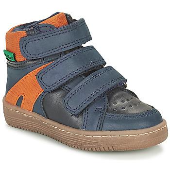 kengät Pojat Bootsit Kickers LOGGAN Laivastonsininen / Oranssi