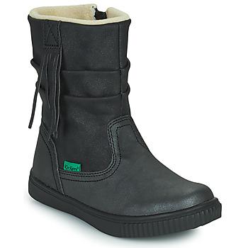 kengät Tytöt Bootsit Kickers RUMBY Musta
