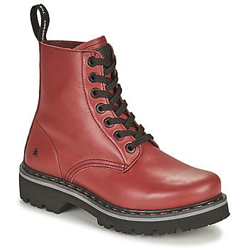 kengät Naiset Bootsit Art MARINA Viininpunainen