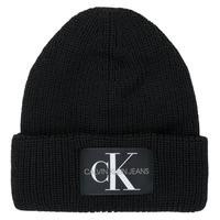 Asusteet / tarvikkeet Naiset Pipot Calvin Klein Jeans MONOGRAM BEANIE WL Musta