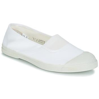 kengät Naiset Balleriinat Bensimon TENNIS ELASTIQUE White