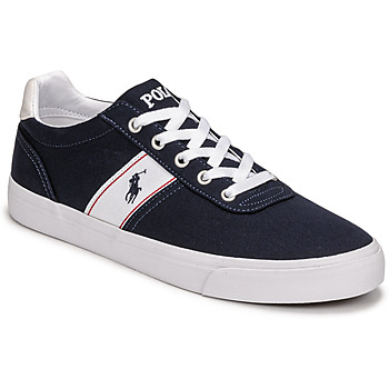 kengät Matalavartiset tennarit Polo Ralph Lauren HANFORD RECYCLED CANVAS Laivastonsininen