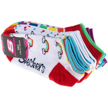 Asusteet / tarvikkeet Lapset Sukat Skechers 6pk Girls No Terry Multicolore