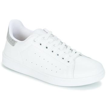 kengät Naiset Matalavartiset tennarit Yurban SATURNA Valkoinen / Hopea