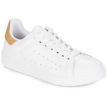 kengät Naiset Matalavartiset tennarit Yurban SATURNA White / Kulta