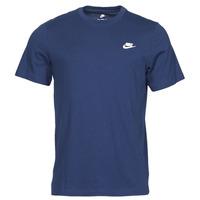vaatteet Miehet Lyhythihainen t-paita Nike NIKE SPORTSWEAR CLUB Sininen / Valkoinen