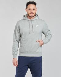 vaatteet Miehet Svetari Nike NIKE SPORTSWEAR CLUB FLEECE Harmaa / Valkoinen