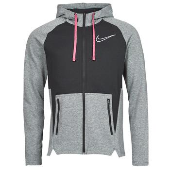 vaatteet Miehet Svetari Nike M NK TF HD FZ NVLTY Musta / Valkoinen