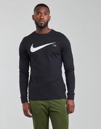 vaatteet Miehet T-paidat pitkillä hihoilla Nike M NSW TEE LS GRX TEE Musta