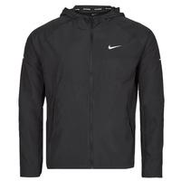 vaatteet Miehet Tuulitakit Nike M NK RPL MILER JKT Musta / Hopea