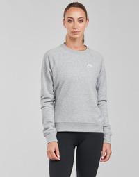 vaatteet Naiset Svetari Nike NIKE SPORTSWEAR ESSENTIAL Harmaa / Valkoinen