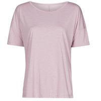vaatteet Naiset Lyhythihainen t-paita Nike NIKE YOGA Violetti