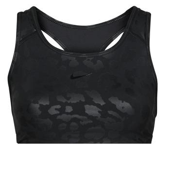 vaatteet Naiset Urheiluliivit Nike W NP DF SWSH LEPARD SHINE BRA Musta