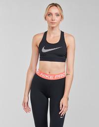 vaatteet Naiset Urheiluliivit Nike W NK DF SWSH ICNCLSH GX BRA Musta / Valkoinen