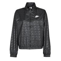 vaatteet Naiset Tuulitakit Nike W NSW WVN GX JKT FTRA Musta / Valkoinen